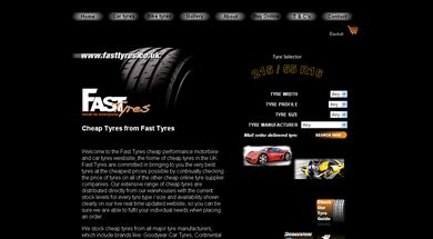 Fasttyres home page